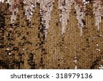 shiny sparkle gold sequins... | Shutterstock . vector #318979136