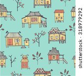 set of hand drawn houses.... | Shutterstock .eps vector #318979292