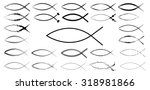 sketchy ichthys signs... | Shutterstock . vector #318981866