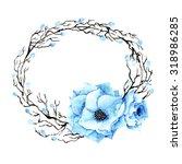 floral wreath. invitation.... | Shutterstock . vector #318986285