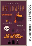 halloween party invitation card | Shutterstock .eps vector #318987002