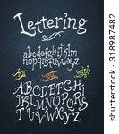 chalk hand sketched uppercase... | Shutterstock .eps vector #318987482