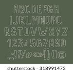 type letters  numbers and... | Shutterstock .eps vector #318991472