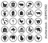 set of twenty five agriculture... | Shutterstock .eps vector #318992582