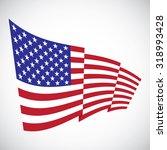 illustration of waving flag of... | Shutterstock .eps vector #318993428