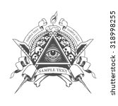 all seeing eye. mystic occult... | Shutterstock .eps vector #318998255