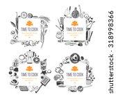 set of frames  doodle style .... | Shutterstock .eps vector #318998366