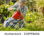 beautiful mature woman in a... | Shutterstock . vector #318998606