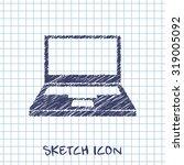 computer web sketch icon ...