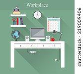 vector illustration of home... | Shutterstock .eps vector #319009406