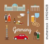 german landmarks and culture.... | Shutterstock .eps vector #319024028