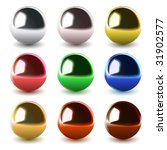 set of vector chrome balls | Shutterstock .eps vector #31902577