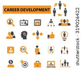 career  job  cv icons | Shutterstock .eps vector #319026422