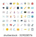 education icon set. flat... | Shutterstock . vector #319028576