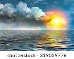 sunset over the sea | Shutterstock . vector #319029776