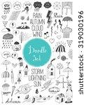 big doodle set   autumn | Shutterstock .eps vector #319030196