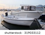 boats in the in the bay of bar  ... | Shutterstock . vector #319033112