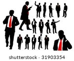 illustration of business people ... | Shutterstock .eps vector #31903354