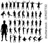 man silhouette set | Shutterstock . vector #319037732