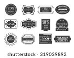 collection of vintage...   Shutterstock .eps vector #319039892