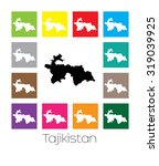 multicoloured map of the... | Shutterstock .eps vector #319039925