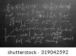 maths formulas written by white ... | Shutterstock . vector #319042592