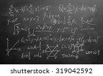 maths formulas written by white ...   Shutterstock . vector #319042592