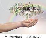 conceptual abstract thank you... | Shutterstock . vector #319046876