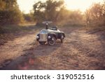 tiny rider toy car outdoors | Shutterstock . vector #319052516