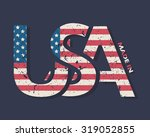 made in the usa typography... | Shutterstock .eps vector #319052855