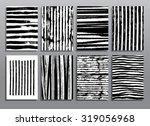 abstract grunge patterns.... | Shutterstock .eps vector #319056968