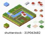 isometric landscape of... | Shutterstock . vector #319063682