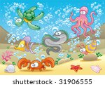 Family Of Marine Animals In The ...