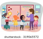 stickman illustration of kids...   Shutterstock .eps vector #319065572