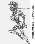 running robot | Shutterstock .eps vector #31907206