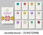geometrical calendar of 2016.... | Shutterstock .eps vector #319072988