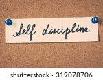 self discipline | Shutterstock . vector #319078706