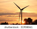 windmill at sunrise | Shutterstock . vector #31908061