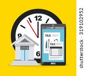 tax payment design  vector... | Shutterstock .eps vector #319102952