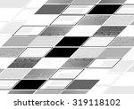 abstract grey tech geometric... | Shutterstock .eps vector #319118102
