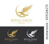 eagle logo royal eagle  animal... | Shutterstock .eps vector #319126172