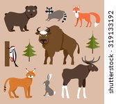 vector collection of icons and... | Shutterstock . vector #319133192