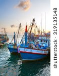 Red Fishing Boat In The Port I...