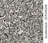 cartoon hand drawn doodles on... | Shutterstock .eps vector #319146266