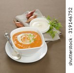 autumn soup puree with cream...