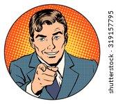 man pointing finger in the... | Shutterstock .eps vector #319157795