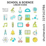 school and science colored ... | Shutterstock . vector #319161986