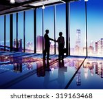 businessmen handshake corporate ... | Shutterstock . vector #319163468