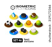 isometric flat icons  3d... | Shutterstock .eps vector #319172366