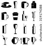 drinks icons set | Shutterstock .eps vector #319174388